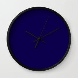 Simply Navy Blue Wall Clock