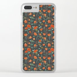 Sweet carnations (dark edition) Clear iPhone Case