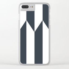 Navy arrows Clear iPhone Case