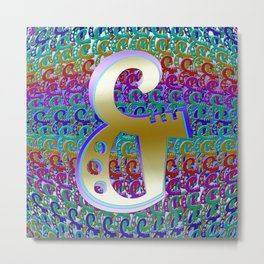 And Ampersand Metal Print