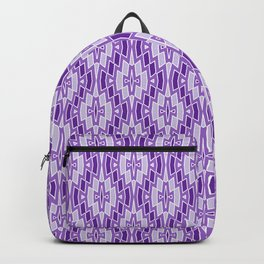Diamond Pattern in Purple and Lavender Backpack