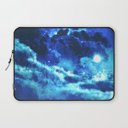 Blue on Moon Laptop Sleeve