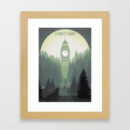 In the Forest of the Night Framed Art Print