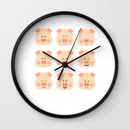 Year of the Pig Chinese New Year 2019 Zodiac Shirt Dark Light Wall Clock