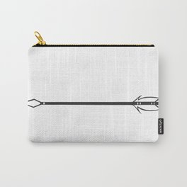 Arrow [Black and White Carry-All Pouch