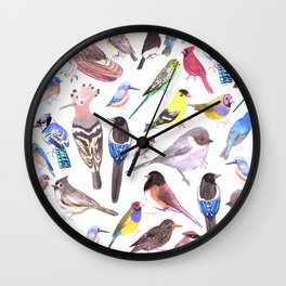 Pet and wild birds of America Wall Clock