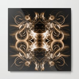 Golden Spirals Metal Print