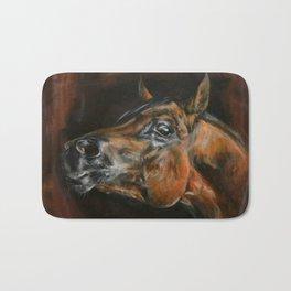 arab horses face Bath Mat