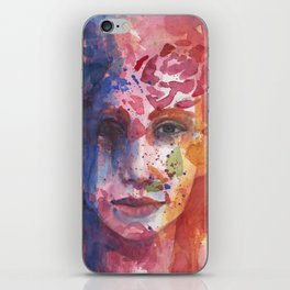 bright painted girl iPhone Skin