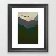 enjoying the view Framed Art Print