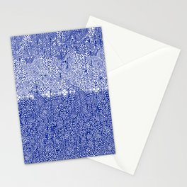 sarasa paisley all over in blues Stationery Cards