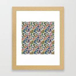 Tropical Bird Floral Summer Print Framed Art Print