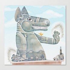 Tobias the dog. Canvas Print