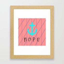 Christian Anchor of Hope Framed Art Print