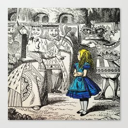 Blonde Girl Called Alice Canvas Print