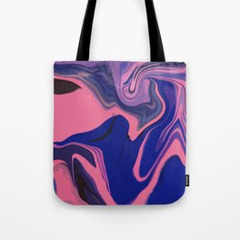 Marble Magic Neon Tote Bag