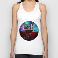 tv Tank Tops featuring Television by Cs025