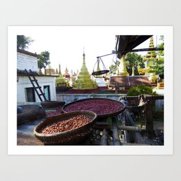 View from the Nunnery, Myanmar Art Print