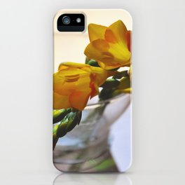 Yellow flowers by Giada Ciotola iPhone Case