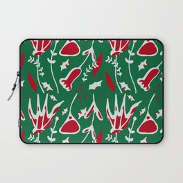 winter floral green Laptop Sleeve