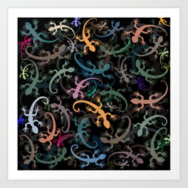Leaping Lizards Art Print