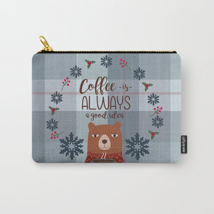 Bearrific Coffeelicious Christmas Carry-All Pouch