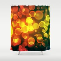 bokeh Shower Curtains featuring bokeh by davidmichel