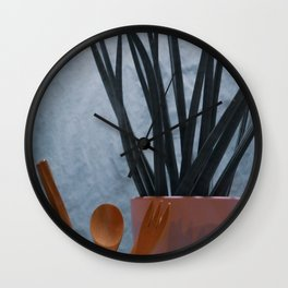 Agave, Spoon tea & Fork in Cup, B Wall Clock