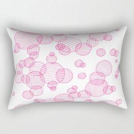 Striped circles in pink Rectangular Pillow