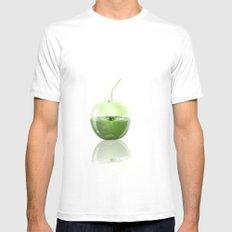 Apple Juice MEDIUM Mens Fitted Tee White
