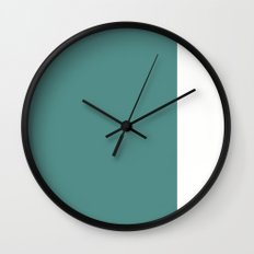 Teal Stripe (2) Wall Clock
