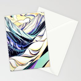 Creases and Curves Stationery Cards