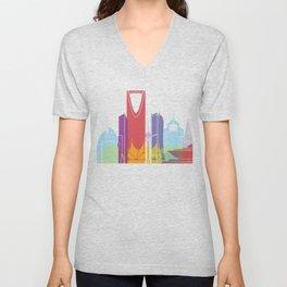 Riyadh skyline pop Unisex V-Neck