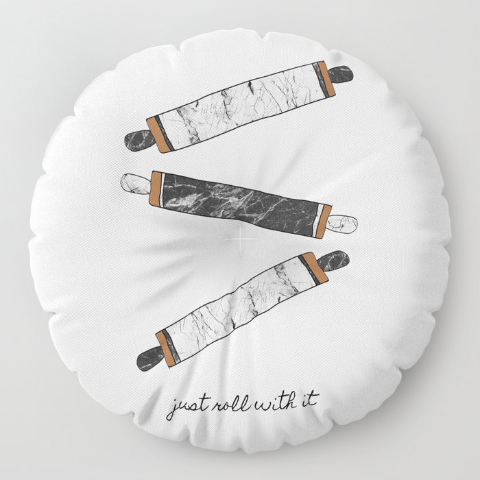 Just Roll With It, Kitchen Prints Floor Pillow