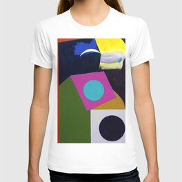 African American Masterpiece 'Joyful Abstraction' abstract landscape painting by E.J. Martin T-shirt