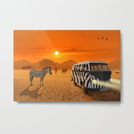 Africa Safari and stripes meeting Metal Print