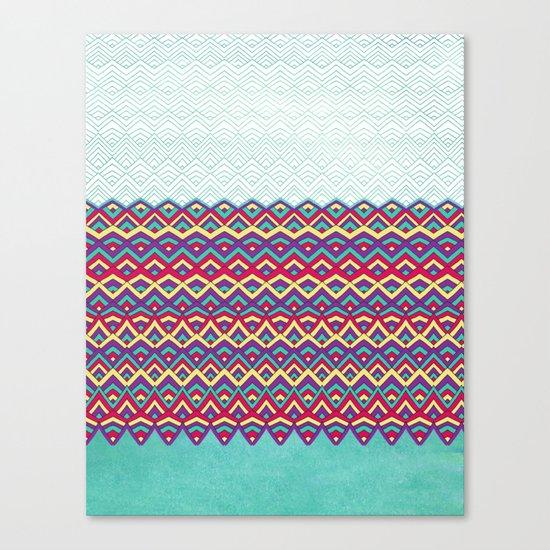 Horizons I Chevron Series Canvas Print