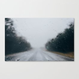 Rainy Road Canvas Print