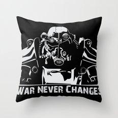 Fallout 3 War Never Changes Throw Pillow