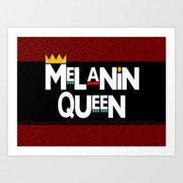 Melanin Queen Art Print