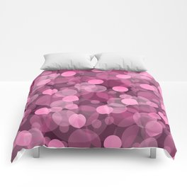 Pink Bubbles 2 Comforters