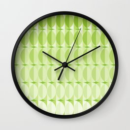 Leaves at springtime - a pattern in green Wall Clock