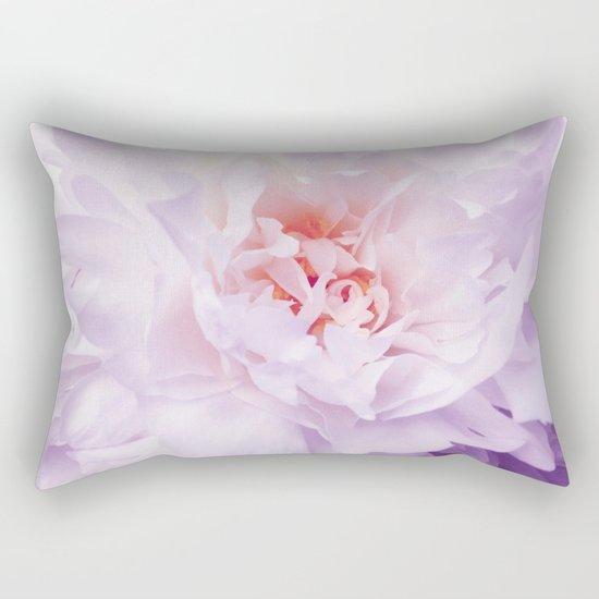 Purple Peony Rectangular Pillow