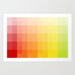 citrus pixelate Art Print