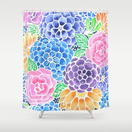 Masked Flora Collection Bloom Shower Curtain