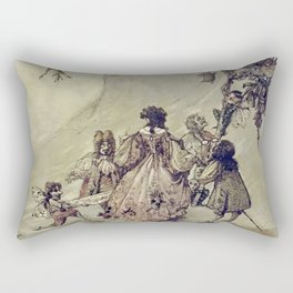 """The Fairies Ascent"" by A. Duncan Carse Rectangular Pillow"
