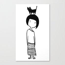 Insomniac Cat Lady Canvas Print
