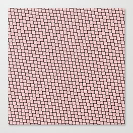 Chain link Black on Blush Canvas Print