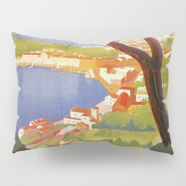 Ischia Island Italy summer travel ad Pillow Sham