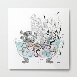 Octopus bathtub. Metal Print